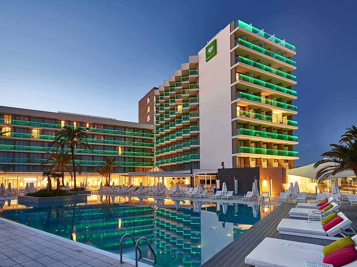 cala millor protur hotel playa majorca hotels spain outside pool swimming