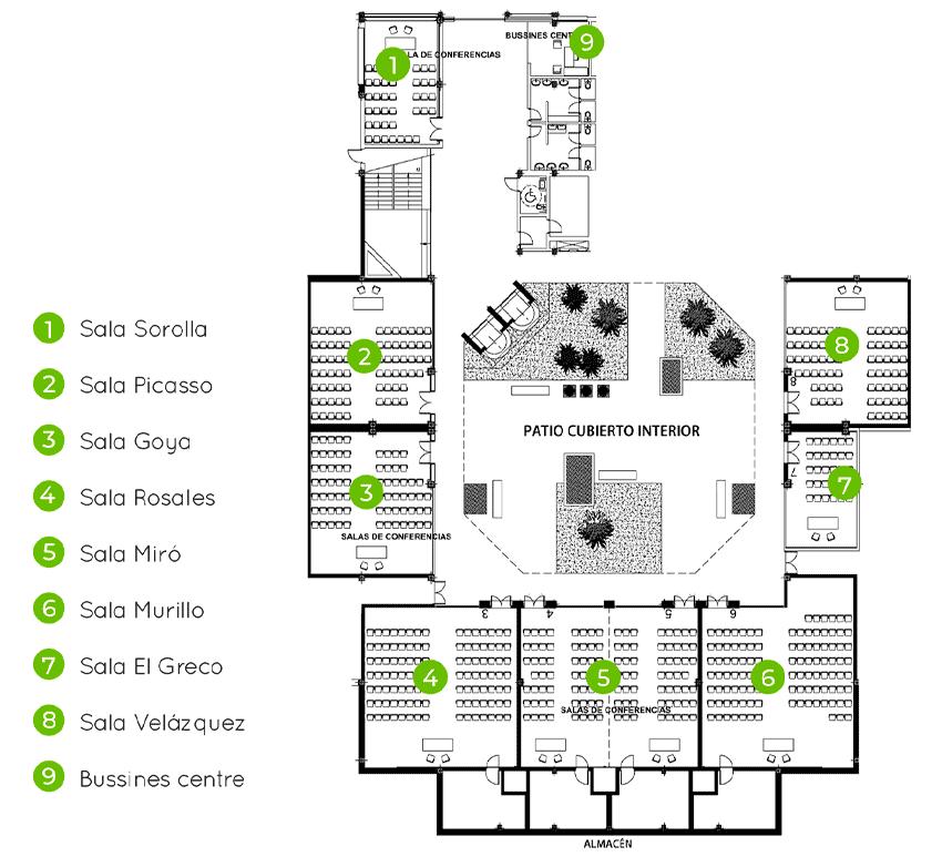 Salas para eventos y reuniones
