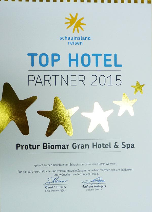 Protur Biomar Gran Hotel Spa Top Hotel Partner 2015 Schauinsland Reisen