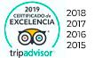 certificado excelencia Tripadvisor 2019